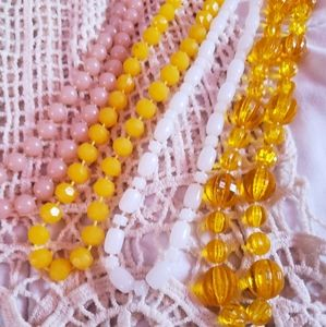 Vintage lucite plastic bead necklaces